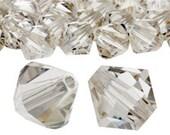 Pack of 50 Swarovski 5328 2.5mm Crystal Silver Shade Bicone Beads (sku 4856 - 5328-25-CR-SS)