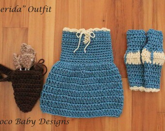 """Crochet """"Merida"""" Inspired Baby Photography Prop - Made to Order"""
