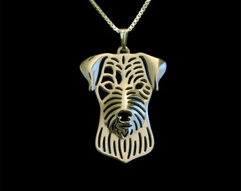 Parson Russell Terrier jewelry - Gold pendant and necklace.