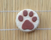 Paw Print Round Oatmeal Bar Soap for Charity - 1 Dollar Donated to Heart of Niagara Animal Rescue with Every Purchase