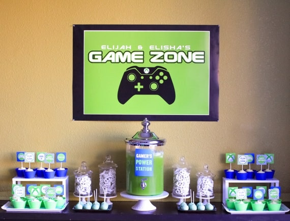 Video Game Party Backdrop For Dessert Table Or By