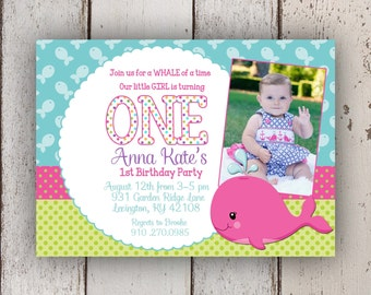 Our Little Squirt Birthday Invitation