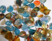 3 Pack Multi Color Upcycled Glass Guitar Picks