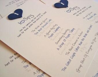 I Spy Game Wedding Camera Cards (Pack of 5)