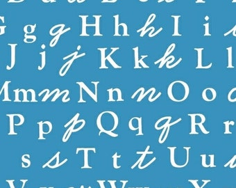 Alphabet in Blue from A is For..... from Windham Fabrics