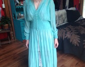 Beautiful Silk Chiffon Dressing Gown from the 1940's