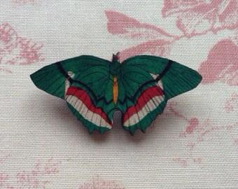 Green Butterfly Brooch.  Laser Cut Butterfly Brooch. Vintage Style Brooch, Insect Brooch, Wood Brooch, Nature Lover