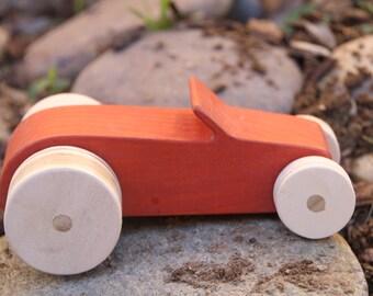 Red Wood Car