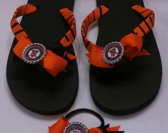 San Francisco Giants Flip Flops w/ matching hair bow