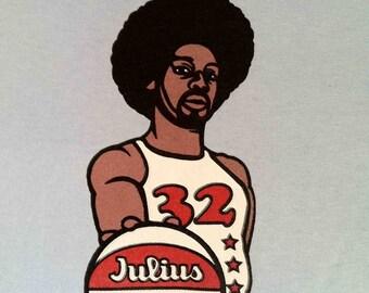 PHISH T shirt -Julius Dr J Light Blue