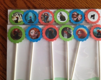 12 Brave cupcake toppers