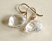 Clear Teardrop Earrings -...