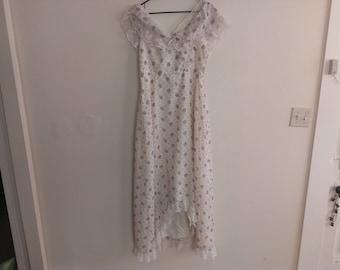 70s vintage floral boho dress size 18