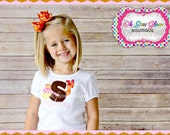 Personalized Thanksgiving Turkey Embroidered Shirt - Thanksgiving Shirt - Turkey Shirt - Girls Thanksgiving Shirt - Holiday Shirt -