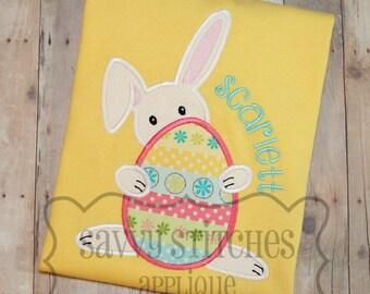 Bunny Egg Machine Embroidery Applique Design