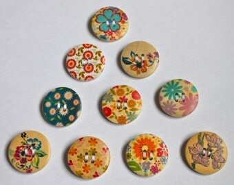 Set of Wooden Brooches