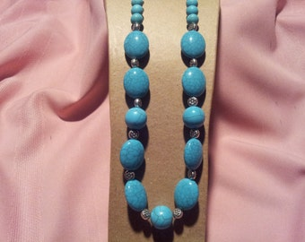 Fashion Jewlery,Turquoise Bead Necklace, Chunky Necklace