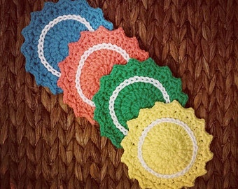 Bright Color Starburst Coaster