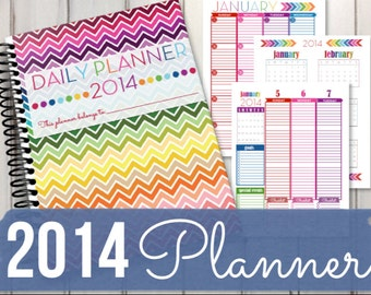 2014 Calendar Printable 2 Page Mo Nthly Calendar Day Planner | Apps ...