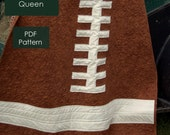 Rookie Quarterback quilt pattern - PDF instant download - includes 4 sizes: baby lap twin and queen size.  Football sports quilt pattern