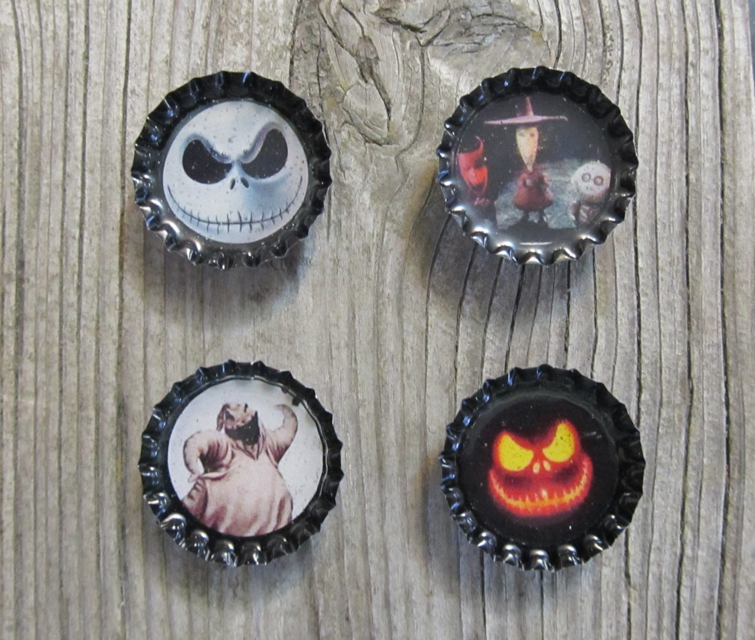 Cool Nightmare Before Christmas Gifts: Nightmare Before Christmas Bottle Cap Magnets Gift By
