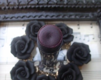 Black Stallion Collection in Black Rose - Dark Red Black Purple Lip Gloss