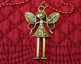 Antique Brass Angel