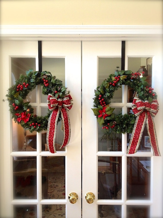 Double Door Wreaths Christmas Wreath Small Wreath