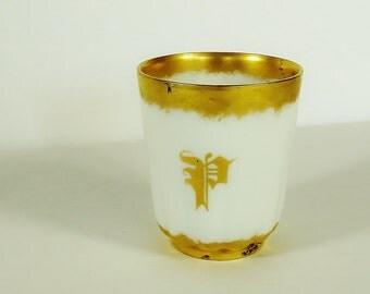 1903 Limoges Monogram Sentiment Cup