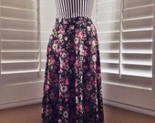 SALE!  5 DOLLAR SALE! Vintage 1990s Floral Sheer Chiffon Maxi Skirt