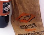 Repurposed Burlap Peanut Bag