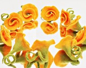 Roses in yellow noble Patches for the dress material for cornet Rose for Rose brooch as a hair accessories Rose for bride