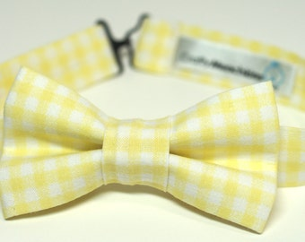 Bow Tie - Yellow Gingham Bowtie