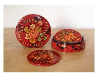 Boxed Floral Coaster Set