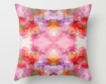 Decorative Pillow Decor throw pillow Pillow Cover Pillow Case Modern Pillows Decorative Throw Art Cover Geometric Pillow Pink pillow 16x16