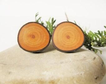 Spalted apple wood cufflinks.