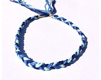 Ocean Blues Braided Soft Cord Ankle Bracelet