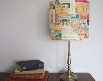 Paris memorabilia drum lampshade uk