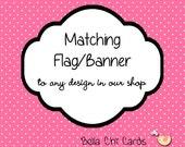 Matching Flag Banner Editable Printable PDF