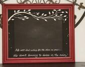 "32"" x 30"" Handpainted Magnetic Chalkboard"