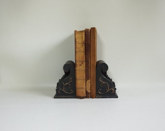 Shabby Chic - Antique  Books - Leather Bound - Very Small Books