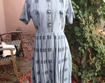 Vintage J HARLAN Originals Shirtwaist Dress 1950's