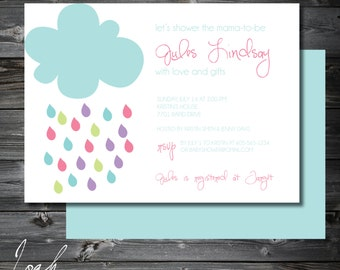 Baby Shower Invitation, Baby Sprinkle Invite, Sip And See, Baby Girl Shower,