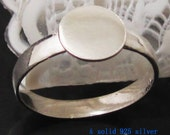 Free shipping solid 925 sterling silver ring base  solid 925 silver ring base is 8 mm USA ring size 5- 8 NO.24141RSS