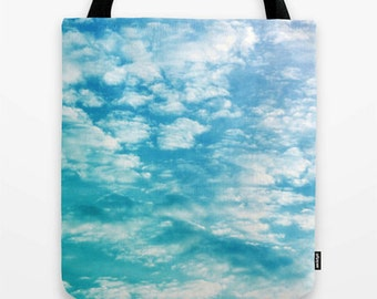 Cloud Tote Bag, Clouds Picture, Sky Picture, Sky Print, Clouds Print, Sky Tote, Clouds Purse, Clouds Bookbag, Clouds Tote, Blue Sky Picture