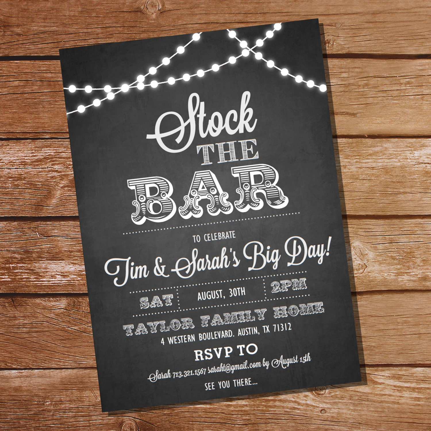 Stock the bar – Engagement Party Invitations Etsy