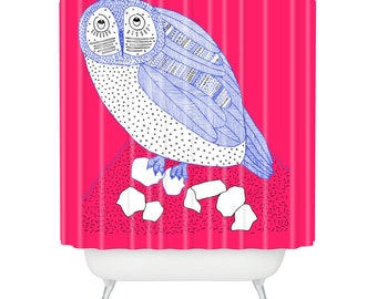 Owl shower curtain | Etsy