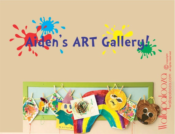 Children's Art Display Decal - Art Gallery decal - Masterpiece wall decal - Child artist decal