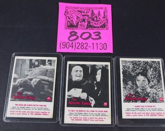 1964 Filmways Addams Family Gum cards- #41,#42,and #35