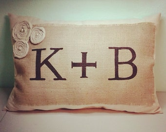 Wedding Pillow with Initials